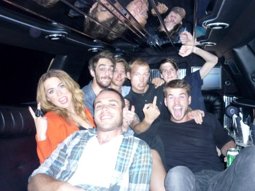 Miley at Liam's Birthday Party