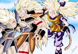 Dragon Ball Z wallpaper possibly with anime called (gril goku) vs turles vs radits