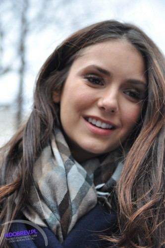 Nina Dobrev wallpaper containing a portrait called 11 Feb Nina signing autografs in NY