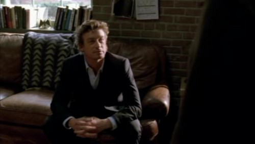 The Mentalist wallpaper with a business suit, a family room, and a living room called 1x18- Russet Potatoes