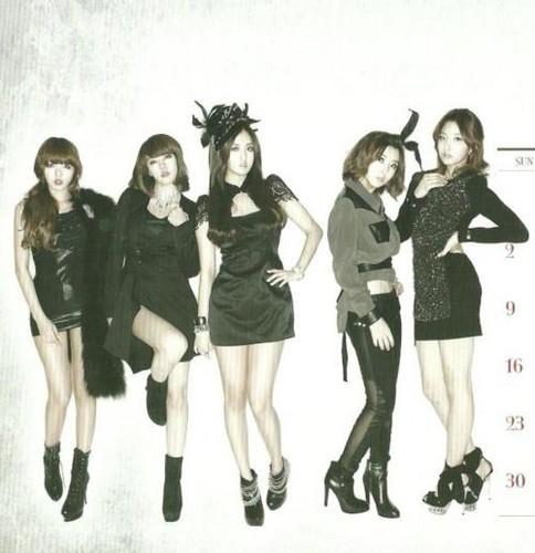 4Minute - 2012 Calendar