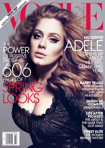 অ্যাডেলে Covers Vogue March 2012