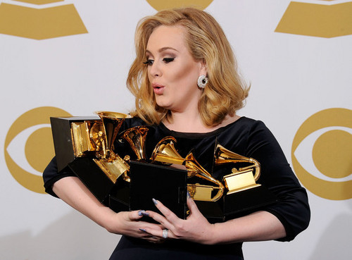 Adele @ the 54th Annual GRAMMY Awards - Press Room