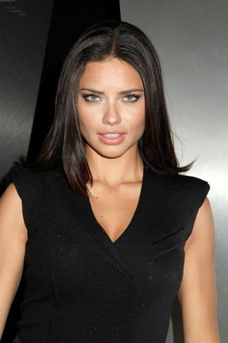 Adriana Lima attends the Donna Karan mostrar during Fashion Week in New York, Feb. 13, 2012