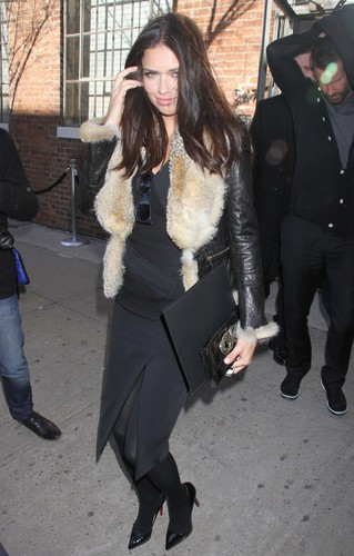 Adriana Lima attends the Donna Karan دکھائیں during Fashion Week in New York, Feb. 13, 2012