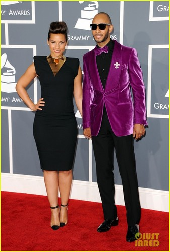 Alicia Keys - Grammys 2012 Red Carpet With Swizz Beatz
