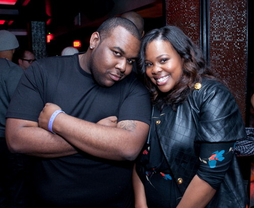 Amber Riley with H. Wood City at the Kelly Prince & 老友记 Unplugged: For The 爱情 of R&B Grammy