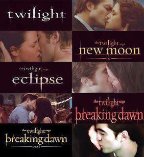 Bella and Edward's kisses through Twilight Saga