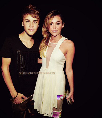Bieber and Miley Cyrus