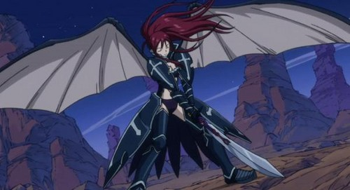 Erza Scarlet wallpaper entitled Black Wing armour