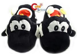 Black Yoshi slippers