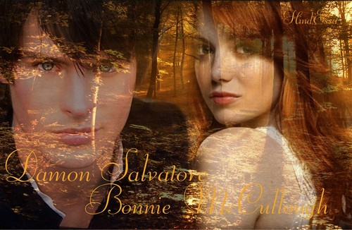 Bonnie McCullough & Damon Salvatore