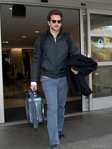Bradley Cooper's Low-Key LAX Arrival