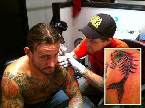CM Punk Getting His Fish Tattoo