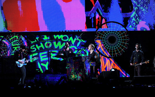 Coldplay performing @ the 54th Annual GRAMMY Awards - mostra