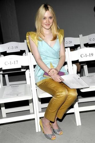 Dakota Fanning at the Rodarte Zeigen in NYC (February 14).