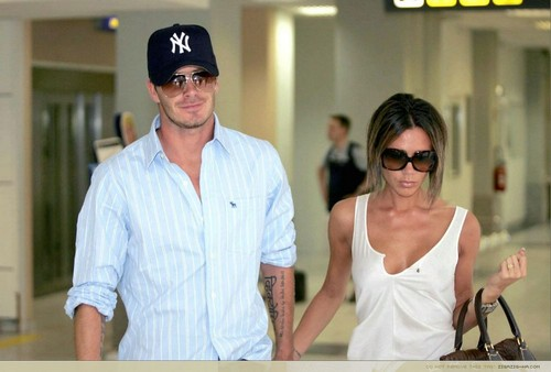 Celebrity Couples wallpaper possibly with sunglasses called David and Victoria Beckham