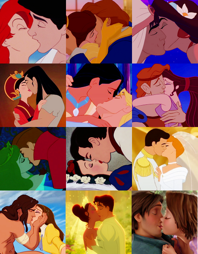 Disney Leading Ladies wallpaper called Disney Kisses