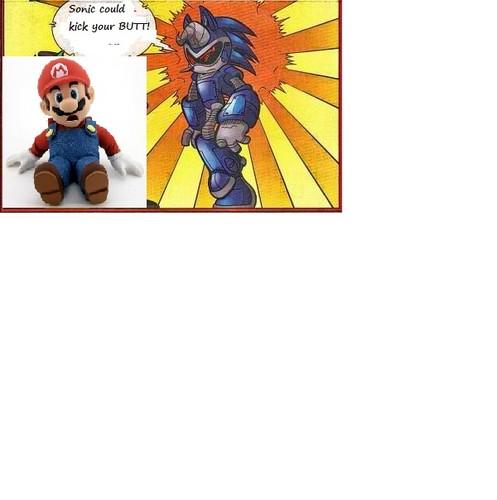 Even Sonics dad hates Mario!