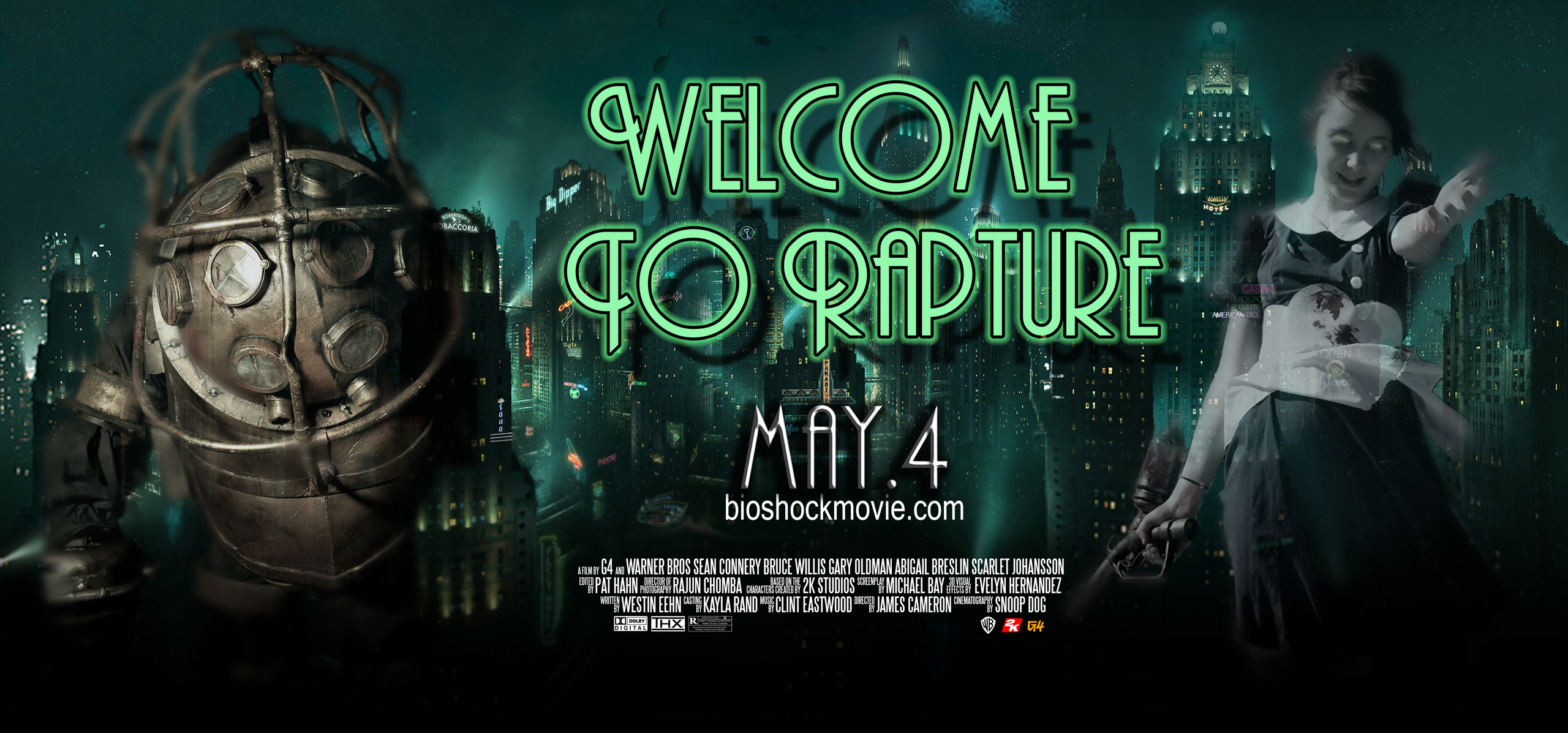 Bioshock Images FAKE Movie Poster HD Wallpaper And Background Photos