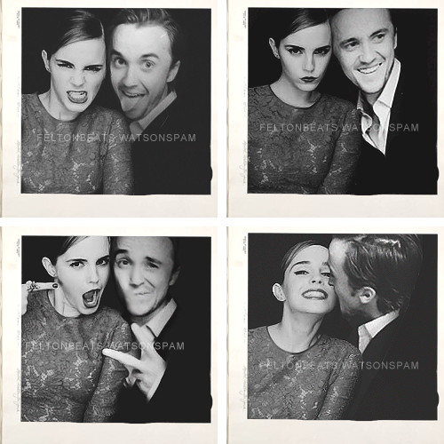 Tom felton and emma watson dancing