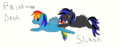 For Metallica1147: Slash and Rainbow Dash - tawnyjay fan art