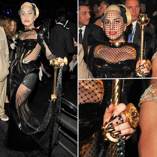 Gaga's Grammy look