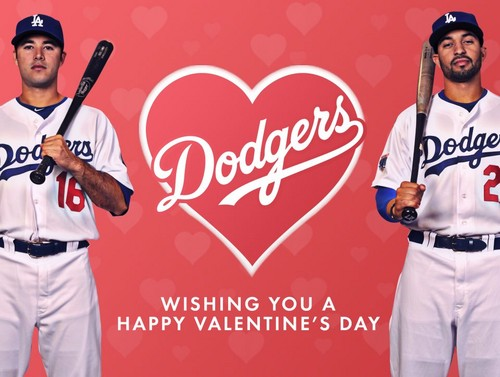 Los Angeles Dodgers images Happy Valentines Day! HD wallpaper and ...