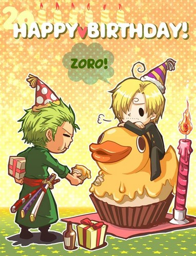 Happy birthday, Zoro