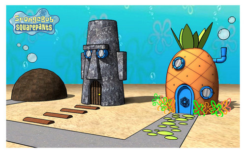 Spongebob Squarepants achtergrond entitled Homes in 3D