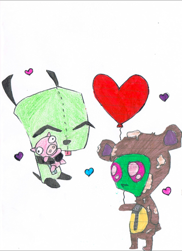 Invader zim By Whazie