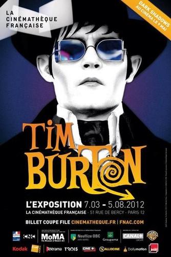 Johnny depp- Poster of an exhibition of Tim Burton in Paris (Dark Shadows Still)
