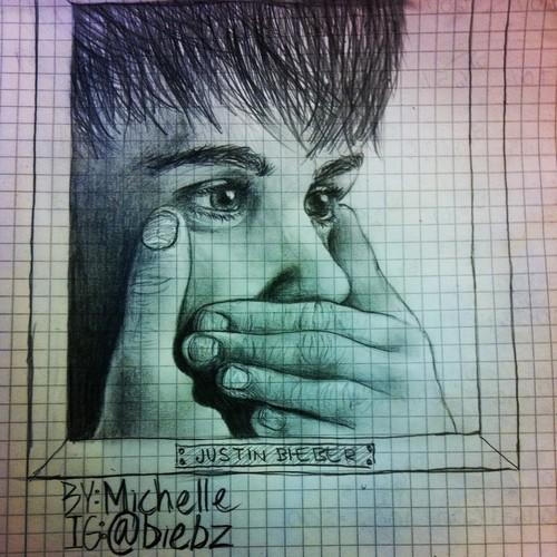 Justin Bieber drawing kwa me