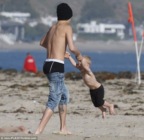 Justin bieber at family the strand in California