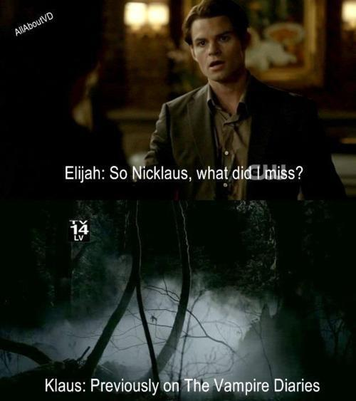 Klaus & Elijah funny :D