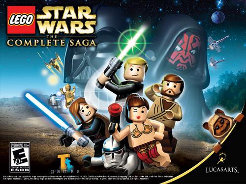 Lego bintang Wars The Complete Saga kertas dinding
