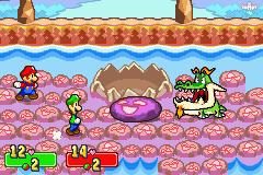Mario and Luigi battle with Dragohoho