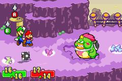 Mario and Luigi battle with Tolstar