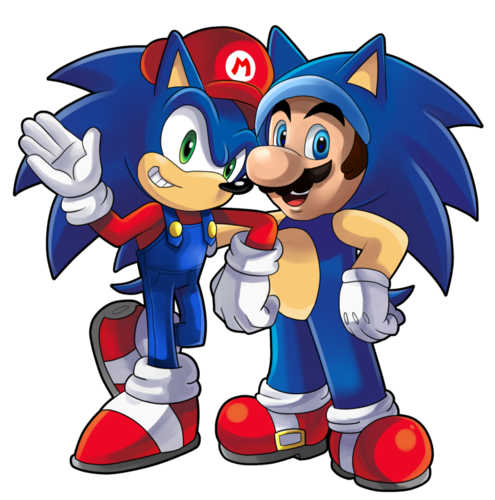 Sonic the Hedgehog wallpaper with anime titled Mario and Sonic ?