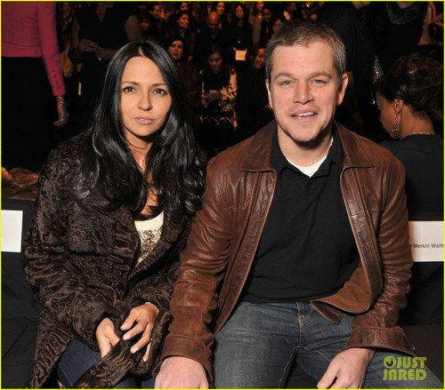 Matt Damon: Naeem Khan Fashion toon With Luciana!