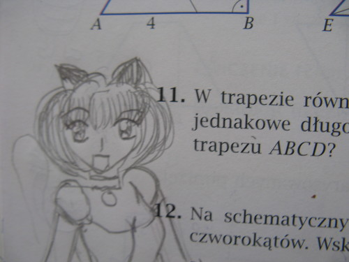 Mew Ichigo in the maths book
