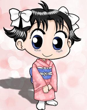 Miiko with her kimono