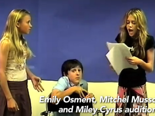 Miley, Mitchel, Emily auditions