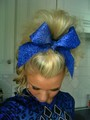 My hair before cheersport 2011 - cheerleading photo
