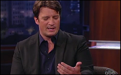 Nathan Fillion on Jimmy Kimmel Live on February 8, 2012