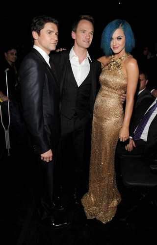 Neil, David and Katy Perry @ the 54th Annual GRAMMY Awards - Backstage And Audience
