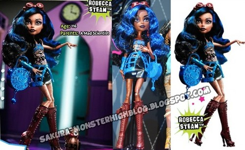 Monster High hình nền probably containing anime entitled New búp bê 2012 - Robecca Steam
