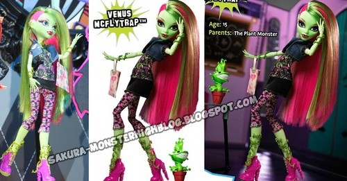 Monster High wallpaper possibly containing a bouquet entitled New Dolls 2012 - Venus McFlytrap