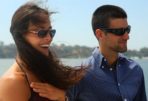 Novak Djokovic wallpaper with sunglasses titled Novak Djokovic and Ana Ivanovic..