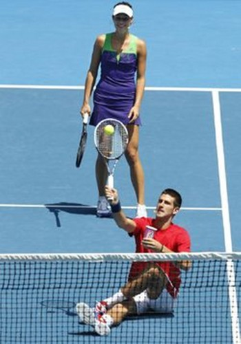 Novak Djokovic and Ana Ivanovic..